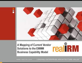 Mapping vendor solutions to EMMM capability map
