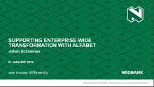 EA Supports Enterprise-wide Transformation within Nedbank
