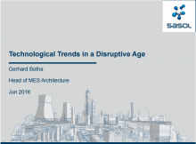 Technological Trends in a Disruptive Age